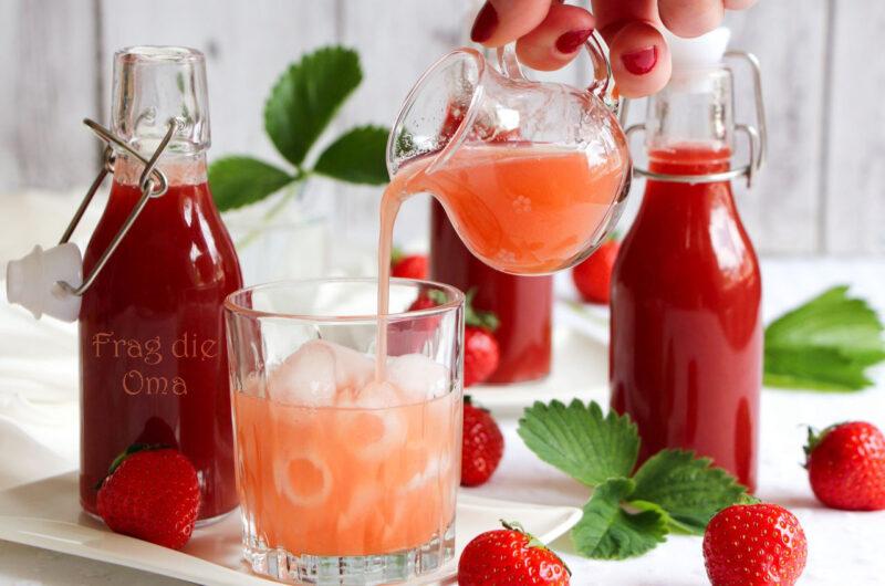 Erdbeer-Rhabarber-Sirup